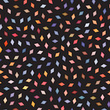 Vector Seamless Multicolor Gradient Rhombus Jumble Pattern