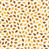 Vector Seamless Golden Gradient Rhombus Shape Jumble Pattern
