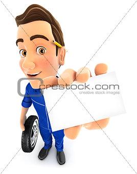 3d mechanic holding company card