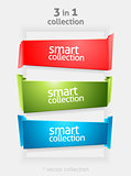Vector Ribbon and Banner Collection with place for Your Text. Color Bookmarks. Infographycs