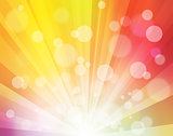 Rainbow Sunshine effect with blurred dots like bokeh bright Background for Posters, Presentations, Video, Site Headers