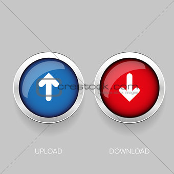 Arrows. Up and Down button  blue and red