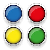 Empty round button set vector