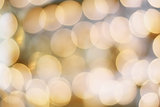 Abstract of Golden Bokeh Lights