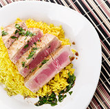 Ahi Tuna Steak With Rice