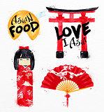 Asia symbols fortune cookies