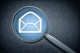 magnifying glass envelope