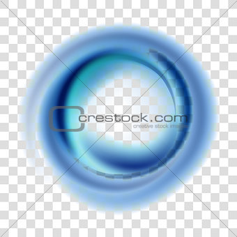 Blue circle illustration