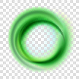 Green circle illustration