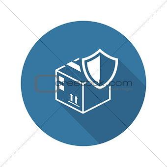 Cargo Protection Icon. Flat Design.