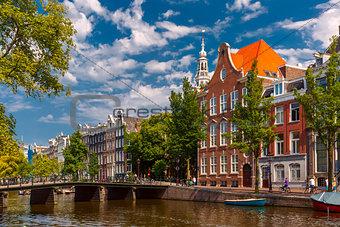 Amsterdam canal, Holland, Netherlands.