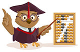 Owl teacher and abacus