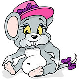 Female Mouse Sitting