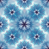 Repeating white-grey-blue floral pattern