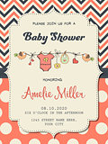 Beautiful baby girl shower card