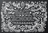 Back to school chalkboard sketch Vector illustration