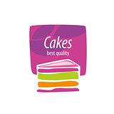 vector logo cake