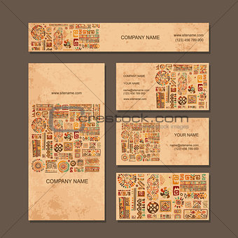 Business cards design, ethnic style