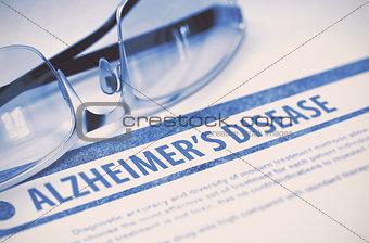 Alzheimers Disease. Medicine. 3D Illustration.