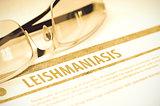Leishmaniasis. Medicine. 3D Illustration.
