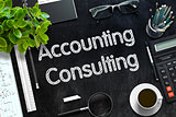 Black Chalkboard with Accounting Consulting. 3D Rendering.