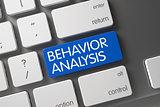 Behavior Analysis CloseUp of Keyboard. 3D Rendering.