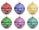 set of vector christmas balls
