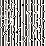 Vector Seamless Black and White Irregular Vertical Braid Lines Pattern