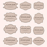 Set of vintage vector frame