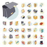 Vintage icons set for business
