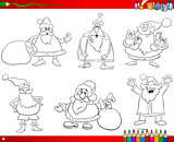 santa set coloring book