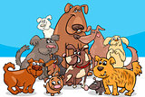 cartoon dog characters group