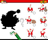 shadows activity with santa