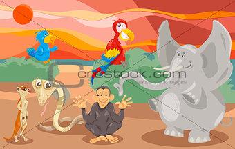 animals group cartoon illustration
