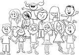 kids or teens coloring page
