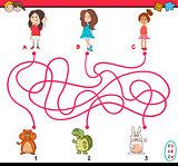 path maze cartoon