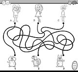 path maze coloring book