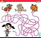 path maze activity cartoon