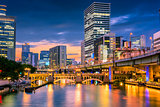 Osaka, Japan River Skyline