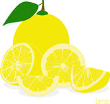Lemon,  slices, set of lemons