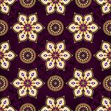 Vintage dark violet seamless pattern