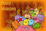 Cartoon Monsters Background