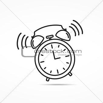 Alarm Clock Line Icon