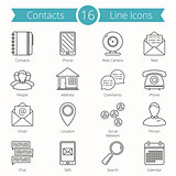 Contacts Line Icons