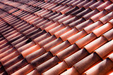 Clay tiles on an Italian roof