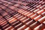 Clay tiles on an Italian roof