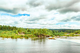 Stornorrfors, Umea River in Sweden