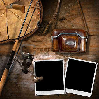 Fishing Tackle and Old Vintage Camera