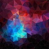 Abstract vector mosaic. triangle geometric background