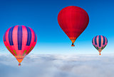 Morning flight of the three hot air balloons.